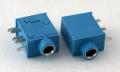 Разъем выводной 3.5 мм синий