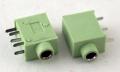 Разъем выводной 3.5 мм зеленый