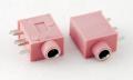 Разъем выводной 3.5 мм розовый
