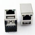 Разъем сдвоенный USB+RJ45